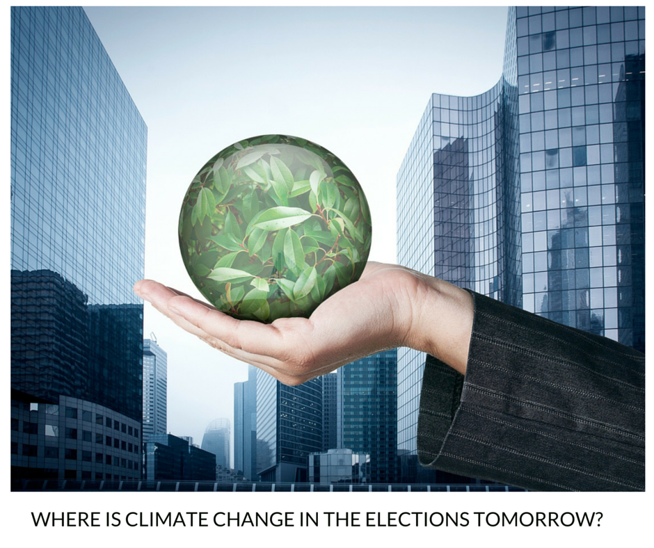 Where is Climate Change in the Elections Tomorrow-